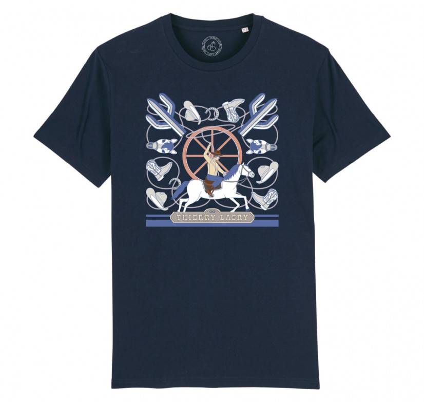 THIERRY LASRY COWBOY T-SHIRT - NAVY BLUE