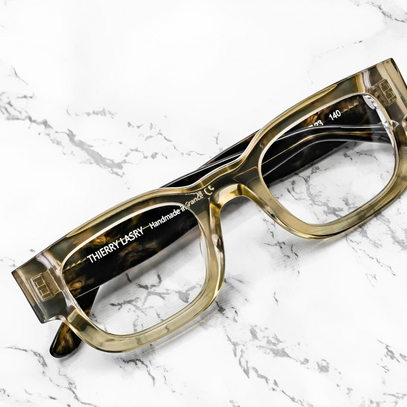 ThierryLasry-Loyalty-177-HoneyAndGreenPattern-Eyeglasses