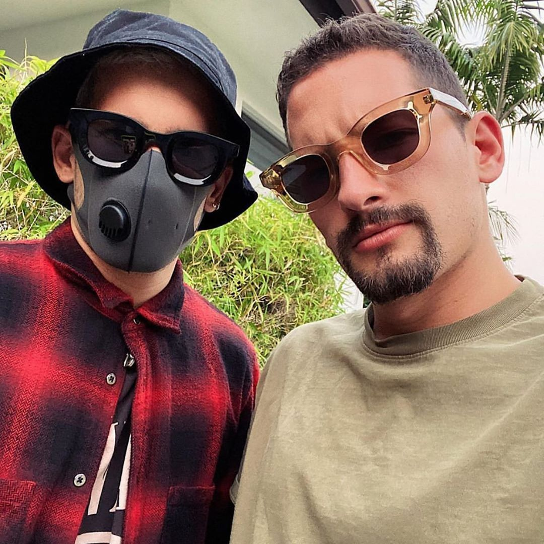 "Mau & Ricky wearing the RHUDE x THIERRY LASRY ""RHODEO"""