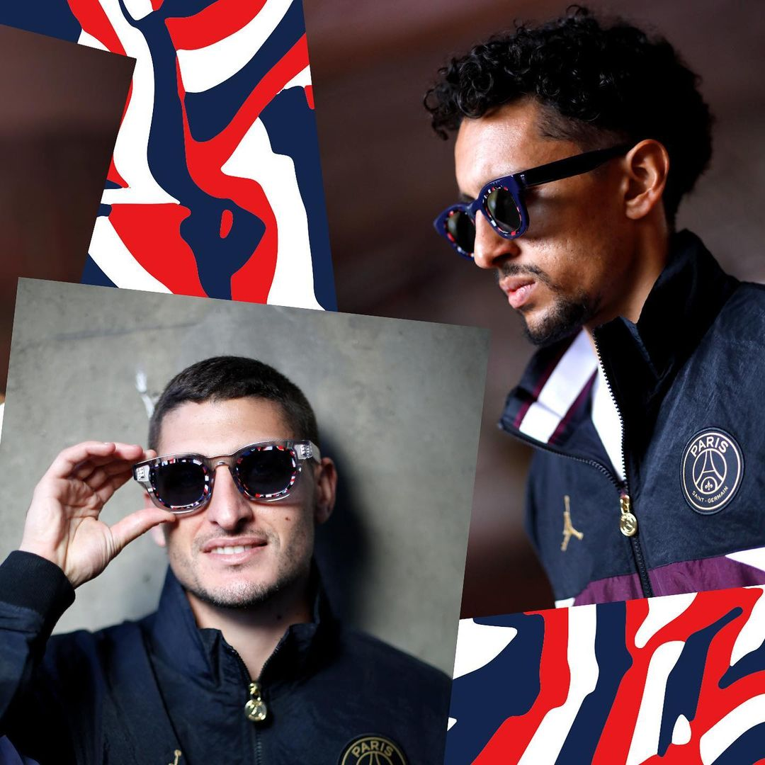 Paris Saint-German Team Players sporting the PSG x THIERRY LASRY collection