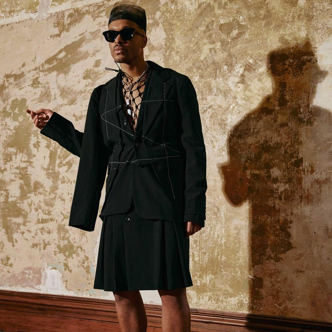 """Antwaun Sargent featured in Interview magazine wearing the RHUDE x THIERRY LASRY """"RHODEO"""""""