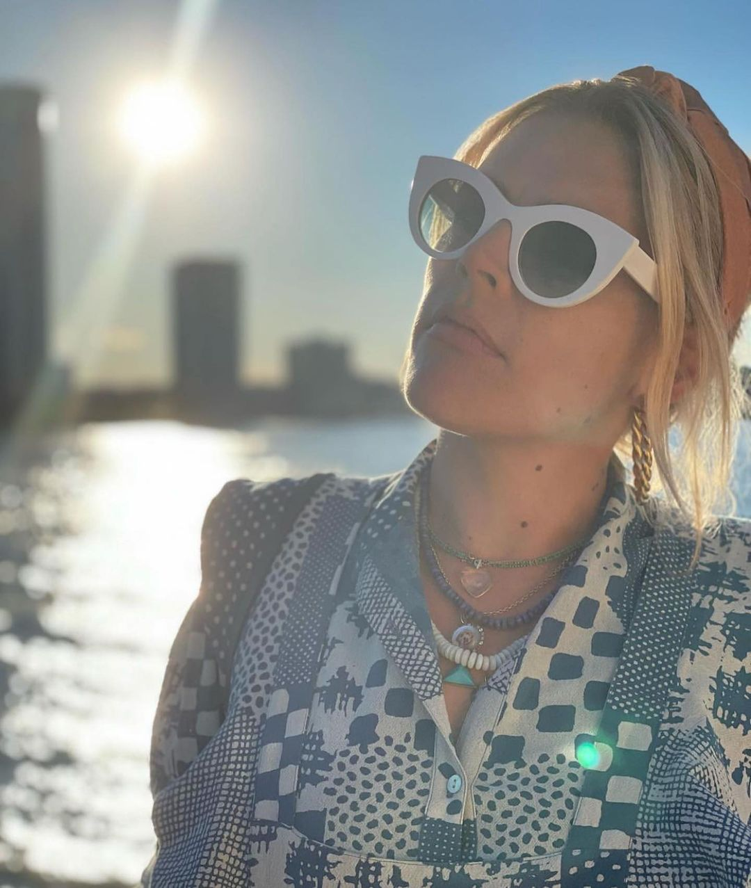 """Busy Philipps wearing the THIERRY LASRY """"MELANCOLY"""" on her birthday"""