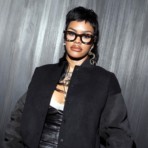 "TEYANA TAYLOR WEARING THE RHUDE X THIERRY LASRY ""RHODEO"" DURING MIAMI ART BASEL"