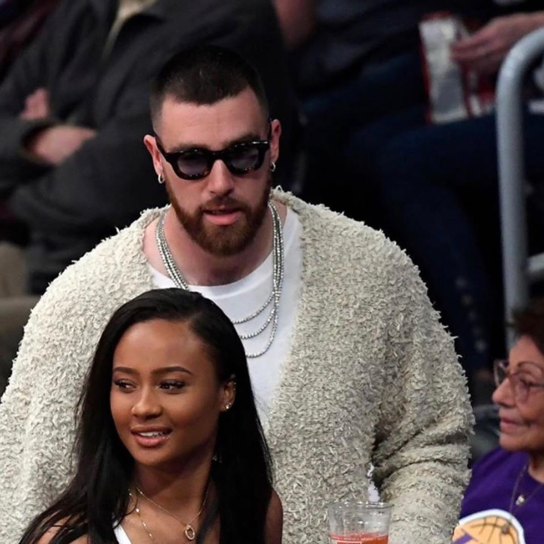 "Travis Kelce  wearing the RHUDE x THIERRY LASRY ""RHODEO"""