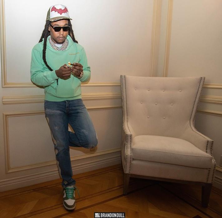 "TAKEOFF wearing the ENFANTS RICHES DÉPRIMÉS x THIERRY LASRY ""THE ISOLAR 2"""