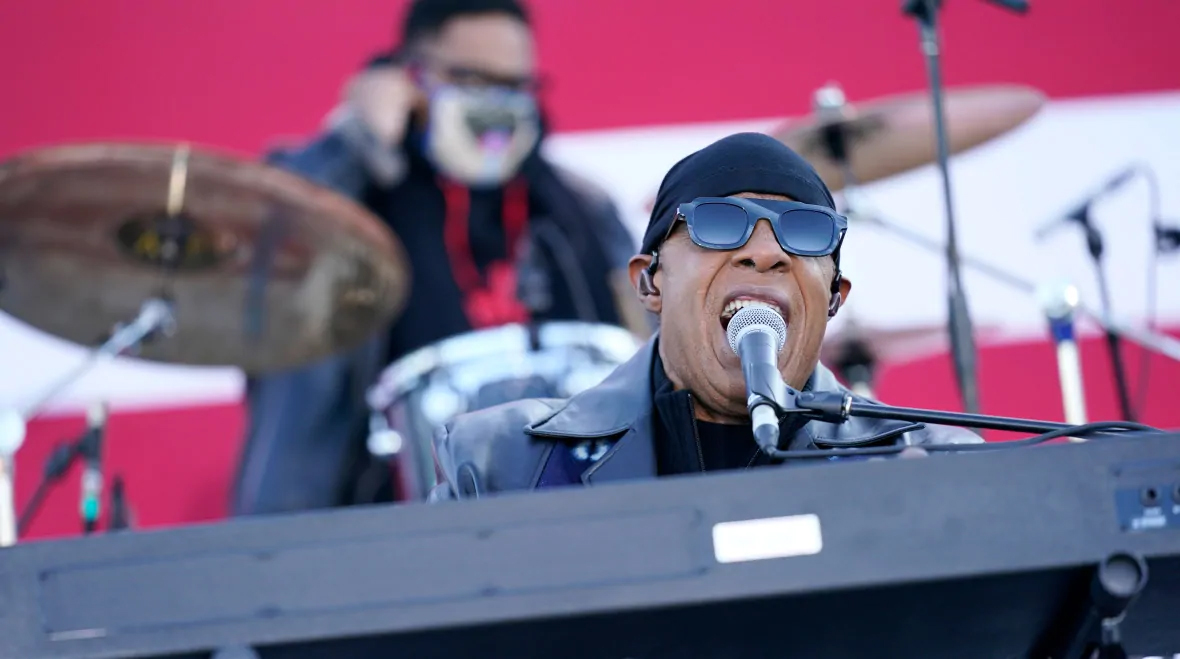 """STEVIE WONDER wearing the THIERRY LASRY """"ROBBERY"""" sunglasses"""