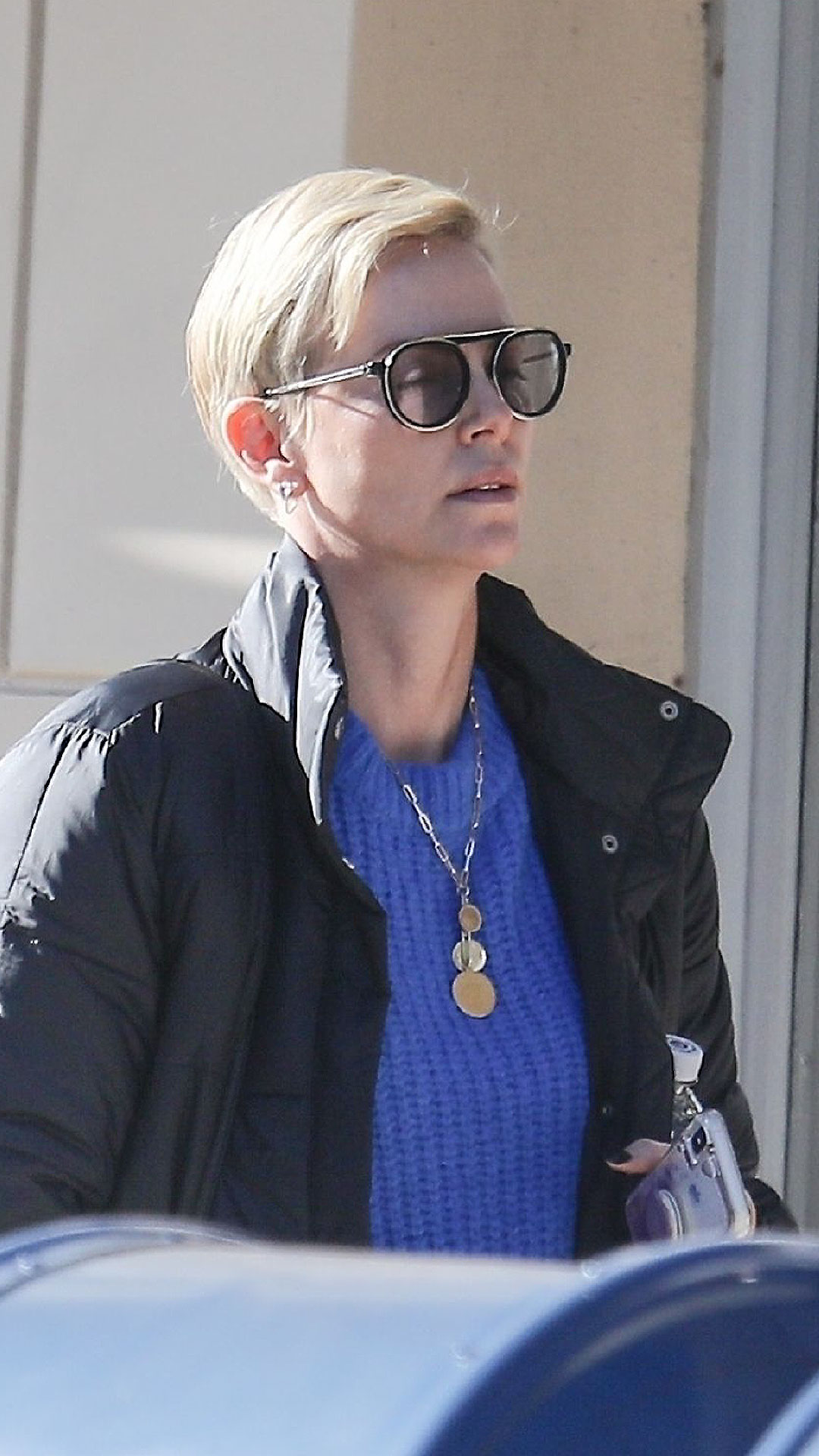 "CHARLIZE THERON WEARING THE THIERRY LASRY ""GHOSTY"""