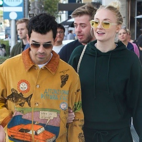 "SOPHIE TURNER WEARING THE ENFANTS RICHES DÉPRIMÉS X THIERRY LASRY ""ISOLAR"""